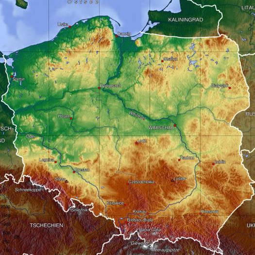 Geografa de Polonia